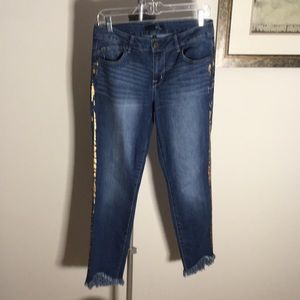 """1822 Denim Jeans with Gold """"Ink"""" along legs"""